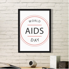 1st December World AIDS Day HIV Awareness Solidarity Symbol Simple Picture Frame Art Prints of Paintings Home Wall Decal