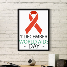 1st December World AIDS Day HIV Solidarity Awareness Symbol Simple Picture Frame Art Prints of Paintings Home Wall Decal