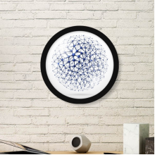Abstract Atomic Structure Physical Three-dimensional Illustration Round Simple Picture Frame Art Prints of Paintings Home Wall Decal