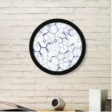 Abstract Blue Chemical Molecular Structure Illustration Round Simple Picture Frame Art Prints of Paintings Home Wall Decal
