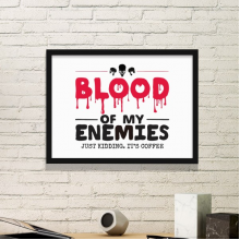Zombie Biochemical Horror Bloody Kidding Theme English Gift Simple Picture Frame Art Prints of Paintings Home Wall Decal