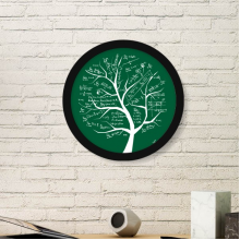 Tree-Shaped Seeking Limits Mathematical Formulas Science Calculus Painted Stick Figure Round Simple Picture Frame Art Prints of Paintings Home Wall Decal