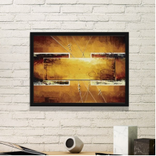 Yellow Wood Air Brushing Graffiti Abstract Art Painting Simple Picture Frame Art Prints of Paintings Home Wall Decal
