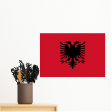 Albania National Flag Europe Country Symbol Mark Pattern Removable Wall Sticker Art Decals Mural DIY Wallpaper for Room Decal