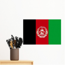 Afghanistan National Flag Asia Country Symbol Mark Pattern Removable Wall Sticker Art Decals Mural DIY Wallpaper for Room Decal