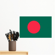 Bangladesh National Flag Asia Country Symbol Mark Pattern Removable Wall Sticker Art Decals Mural DIY Wallpaper for Room Decal
