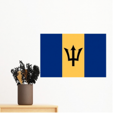 Barbados National Flag North America Country Symbol Mark Pattern Removable Wall Sticker Art Decals Mural DIY Wallpaper for Room Decal