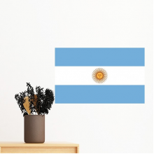 Argentina National Flag South America Country Symbol Mark Pattern Removable Wall Sticker Art Decals Mural DIY Wallpaper for Room Decal