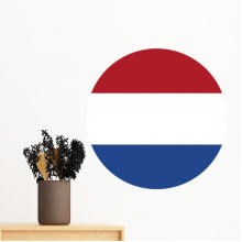 Netherlands National Flag Europe Country Symbol Mark Round Pattern Removable Wall Sticker Art Decals Mural DIY Wallpaper for Room Decal