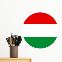 Hungary National Flag Europe Country Symbol Mark Round Pattern Removable Wall Sticker Art Decals Mural DIY Wallpaper for Room Decal