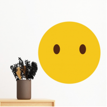 Yellow Cute Lovely Online Chat Emoji Illustration Pattern Removable Wall Sticker Art Decals Mural DIY Wallpaper for Room Decal