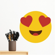 Adore Fever Love Yellow Cute Lovely Online Chat Emoji Illustration Pattern Removable Wall Sticker Art Decals Mural DIY Wallpaper for Room Decal