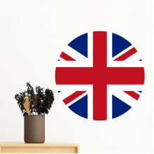 UK National Flag Europe Country Symbol Mark Round Pattern Removable Wall Sticker Art Decals Mural DIY Wallpaper for Room Decal