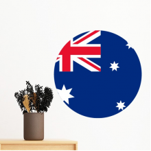Australia National Flag Oceania Country Symbol Mark Round Pattern Removable Wall Sticker Art Decals Mural DIY Wallpaper for Room Decal