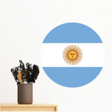 Argentina National Flag South America Country Symbol Mark Round Pattern Removable Wall Sticker Art Decals Mural DIY Wallpaper for Room Decal