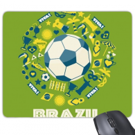 Soccer Jersey Trophy Viva Slogan Parrot Brazil Cultural Element Rectangle Non-Slip Rubber Mousepad Game Mouse Pad Gift