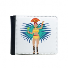 Sexy Hot Hula Samba Brazil Culture Elment Flip Bifold Faux Leather Wallet  Multi-Function Card Purse Gift