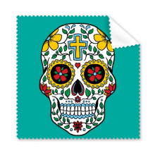 Cirrus Skull Flower Cross Mexico Culture Illustration Glasses Cloth Cleaning Cloth Gift Phone Screen Cleaner 5pcs
