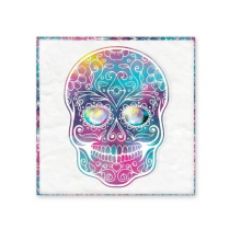 Flower Cirrus Colorful Skull Mexico National Culture Illustration Ceramic Bisque Tiles for Decorating Bathroom Decor Kitchen Ceramic Tiles Wall Tiles