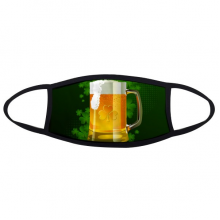 Beer Four Leaf Clover Yellow Ireland St.Patrick's Day Face Anti-dust Mask Anti Cold Maske Gift