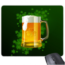 Beer Four Leaf Clover Yellow Ireland St.Patrick's Day Mouse Pad Non-Slip Rubber Mousepad Game Office