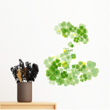 Four Leaf Clover Mew Watermark Ireland St.Patrick's Day Removable Wall Sticker Art Decals Mural DIY Wallpaper for Room Decal