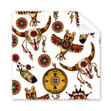 Traditional American Indian Inspired Animal Skull Owl Totem Sacrifice Glasses Cloth Cleaning Cloth Gift Phone Screen Cleaner 5pcs