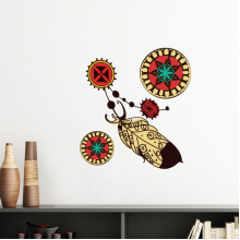Native American Indian Inspired Feather Decal Removable Wall Sticker Art Decals Mural DIY Wallpaper for Room Decal