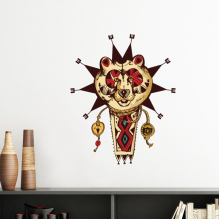 Native American Indian Inspired Bear Totem National Sacrifice Removable Wall Sticker Art Decals Mural DIY Wallpaper for Room Decal
