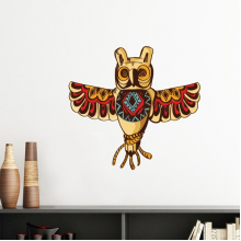 Native American Indian Inspired Owl Status National Sacrifice Removable Wall Sticker Art Decals Mural DIY Wallpaper for Room Decal