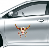 Native American Indian Inspired Animal Skull Decoration Sacrifice Car Sticker on Car Styling Decal Motorcycle Stickers for Car Accessories Gift