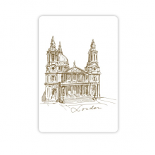 St.Paul's Cathedral Britain England London Iandmark Pattern Refrigerator Magnet Home Decal Magnetic Stickers (set of 4)
