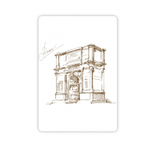 The Arch of Constantine Rome Constantine Landmark Pattern Refrigerator Magnet Home Decal Magnetic Stickers (set of 4)