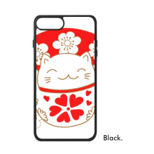 Cherry Blossoms Fat Lucky Fortune Cat Fan Japan Culture For iPhone 7/7 Plus Cases Phonecase Apple Cover Case Gift