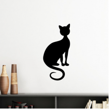Black Cat Elegant Figure Animal Art Silhouette Silhouette  Removable Wall Sticker Art Decals Mural DIY Wallpaper for Room Decal