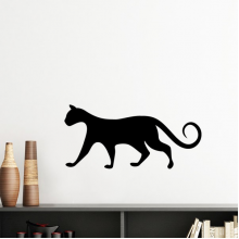 Charming Black Cat Lover Animal Art Silhouette Silhouette  Removable Wall Sticker Art Decals Mural DIY Wallpaper for Room Decal