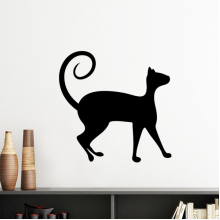 Pet Lover Black Cat Animal Art Silhouette Silhouette  Removable Wall Sticker Art Decals Mural DIY Wallpaper for Room Decal