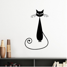 Animal Art Silhouette Black Cat Lover Halloween Silhouette  Removable Wall Sticker Art Decals Mural DIY Wallpaper for Room Decal