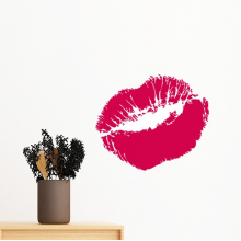 Red Sexy Hot Lip Kiss Happy Valentine's Day Removable Wall Sticker Art Decals Mural DIY Wallpaper for Room Decal