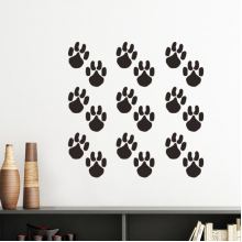 Animal Cute Paw Print Silhouette Footprint Silhouette  Removable Wall Sticker Art Decals Mural DIY Wallpaper for Room Decal