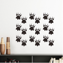 Animal Claw Silhouette Simple Line-drawing  Protect Animal Silhouette  Removable Wall Sticker Art Decals Mural DIY Wallpaper for Room Decal