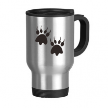 Animal Claw Silhouette Simple Line-drawing  Protect Animal Stainless Steel Travel Mug Travel Mugs Gifts With Handles 13oz