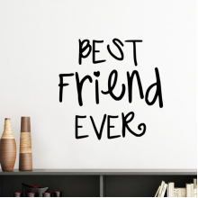 Friendship Best Friend Ever Words Quotes Silhouette  Removable Wall Sticker Art Decals Mural DIY Wallpaper for Room Decal