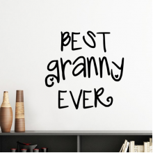 Nana Present Best Granny Ever Words Quotes Family Bless Silhouette  Removable Wall Sticker Art Decals Mural DIY Wallpaper for Room Decal