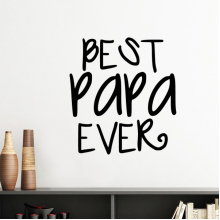 Bless for Father Best Papa Ever Words Quotes Family Silhouette  Removable Wall Sticker Art Decals Mural DIY Wallpaper for Room Decal