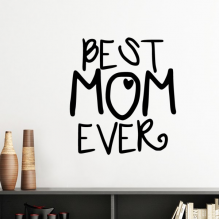 Best Mom Ever Words Quotes Family Mother's Day Silhouette  Removable Wall Sticker Art Decals Mural DIY Wallpaper for Room Decal