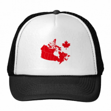 Red Maple Leaf Symbol Canada Country Map Trucker Hat Baseball Cap Nylon Mesh Hat Cool Children Hat Adjustable Cap Gift