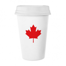 Red Maple Leaf Canada Country Culture Symbol Classic Mug White Pottery Ceramic Cup Milk Coffee Cup Gift 350 ml