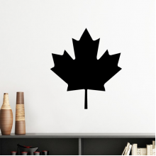 Red Maple Leaf Canada Country Culture Symbol Silhouette  Removable Wall Sticker Art Decals Mural DIY Wallpaper for Room Decal