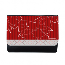 Maple Leaf Texture 4th Of July Happy Canada Day Multi-Function Faux Leather Wallet Card Purse Gift
